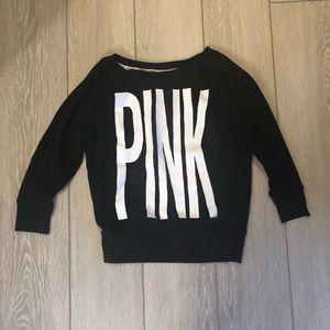PINK Victoria's Secret Black Sweatshirt Crewneck